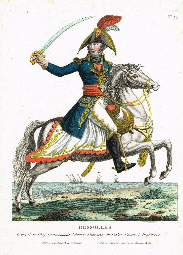 DESSOLLES - Général en Chef Commandant l'Armée Française en Italie Contre l'Angleterre - à Paris chez Jean