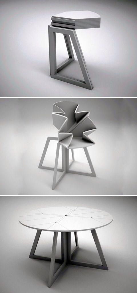 Extending dining tables. More info on www.iheartdesign.com.au