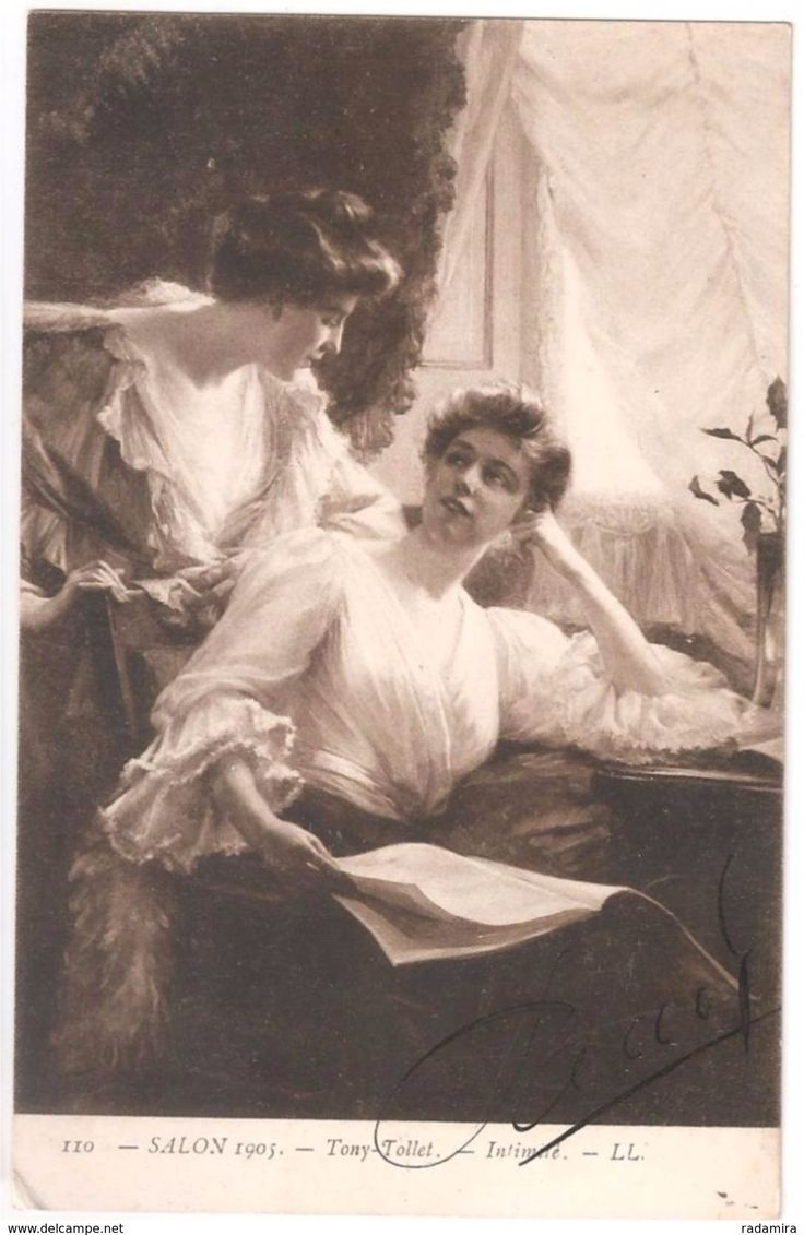 "Carte Postale Ancienne ""Intimile"" TONY TOLLET - Salon de Paris - 1905 France."