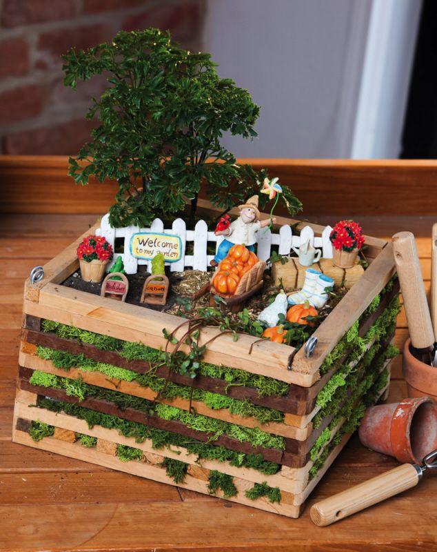 10 piece kit includes fence 2 potted plants hay bale carrots mini gardensminiature gardensfairy. beautiful ideas. Home Design Ideas