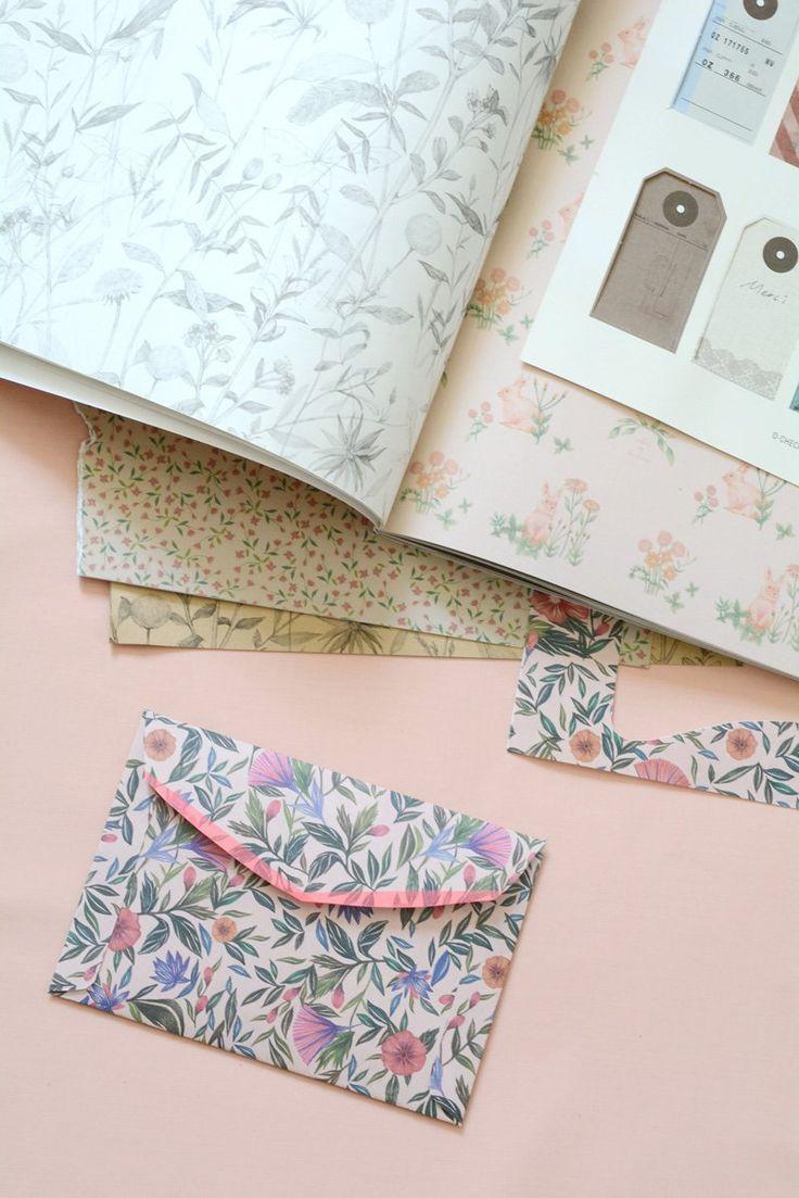 Washi tape envelope edging.