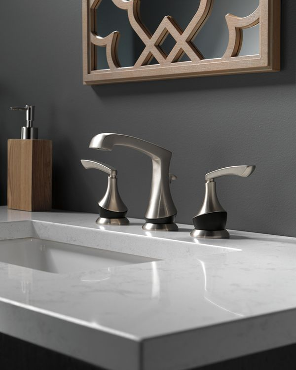 Why choose one color when you can choose two? Our newest bath collection, Merge, is available with a split finish of Matte Black and Brushed Nickel.