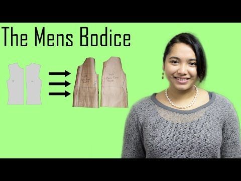 DIY - Basic Pattern Tutorial: The Mens Bodice - YouTube
