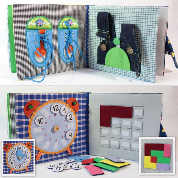 Children's Quiet Book Busy Book Eco friendly Toddler di MiniMoms