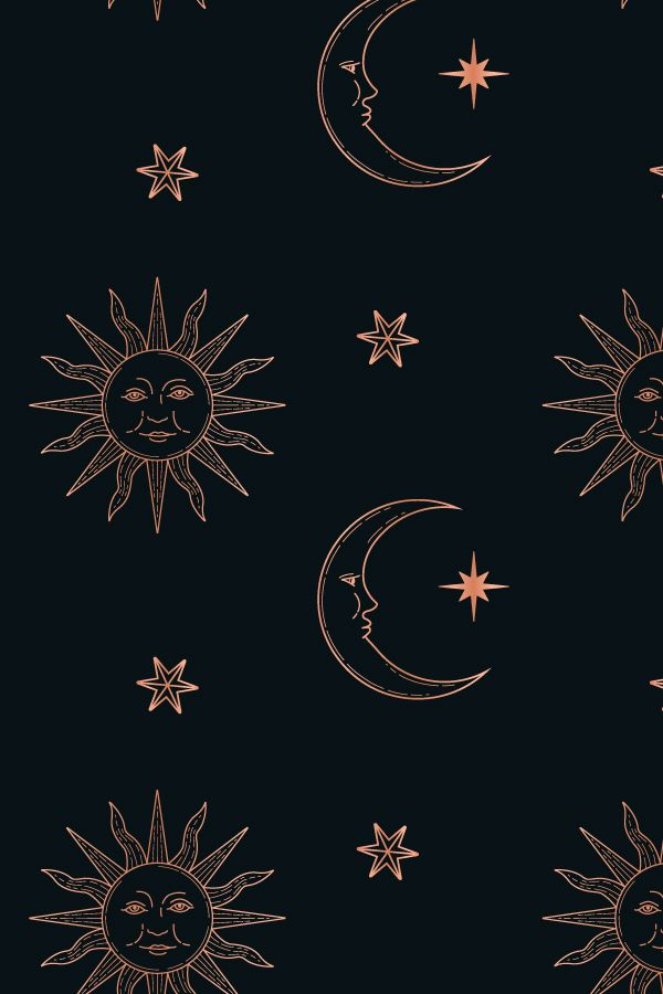 Celestial Seamless Patterns Witchy Wallpaper Iphone Background Wallpaper Backgrounds Phone Wallpapers