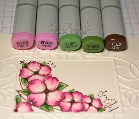 RV00, RV63, YG61, YG63, E25, E30, E31; Copic Atyou Spica Glitter Pens-Gold