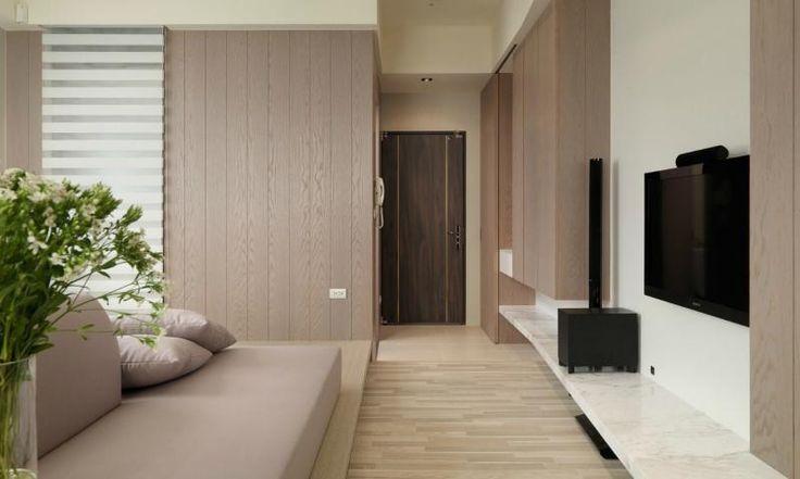 Indoor Corridor With The Wooden Flooring