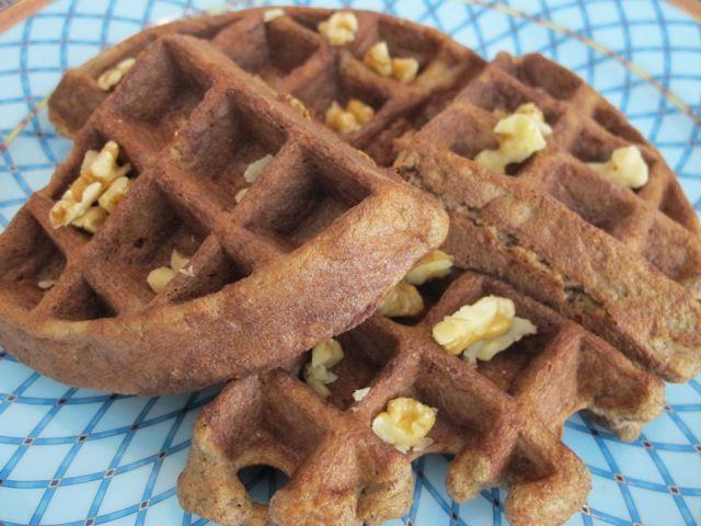 Banana Nut Waffles recipe - on http://foodbabe.com - simple easy ...