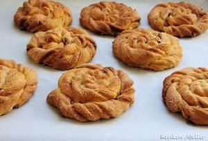 Zelfgemaakte kaneel pecan broodjes. Makkelijk door het gebruik van kant-en-klaar croissantdeeg.