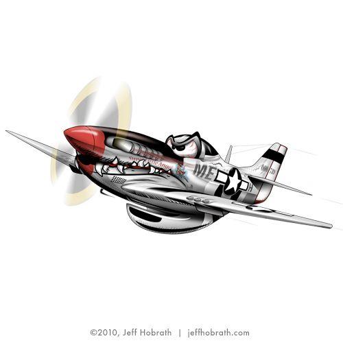 P-51 Mustang Graphic (JPG, Standard Royalty-Free) — Jeff Hobrath Art Studio