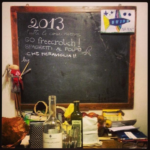 The kitchen blackboard