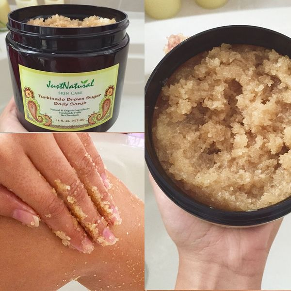 My skin looks shiny and healthy with this natural scrub, smells very very good!!!