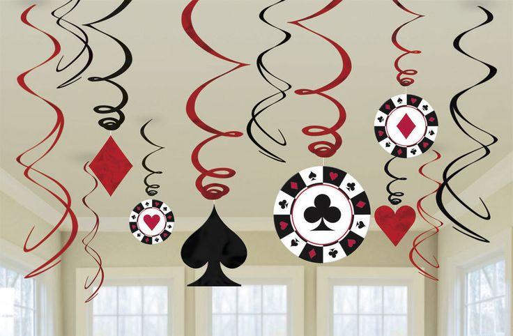 12 DEKO SPIRALEN CASINO PARTY Deko Poker Roulette Black Jack Las Vegas in Sammeln & Seltenes, Saisonales & Feste, Geburtstag | eBay