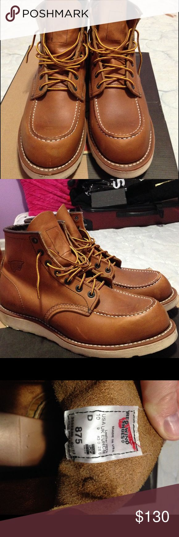 Boots red wing shoes Red Wing boots size 10 model  875 theirs shoes have been wore outside 2 times and look brand new in perfect condition color brown Red Wing Shoes Shoes Boots