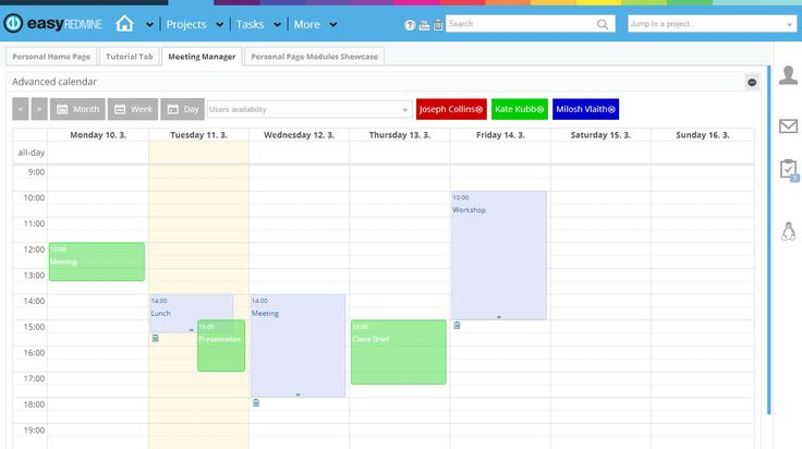 Easy Redmine - Meeting Manager and Planner Plugin http://www.easyredmine.com/