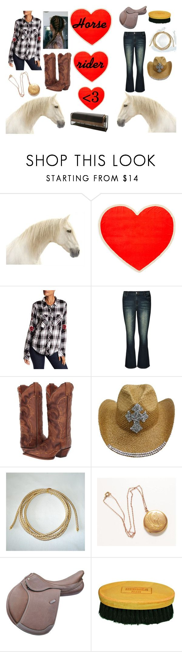 """Horse, Rider, <3"" by huskyluvac on Polyvore featuring ban.do, Sanctuary, City Chic, Dan Post, E + J, Hermès and plus size clothing"