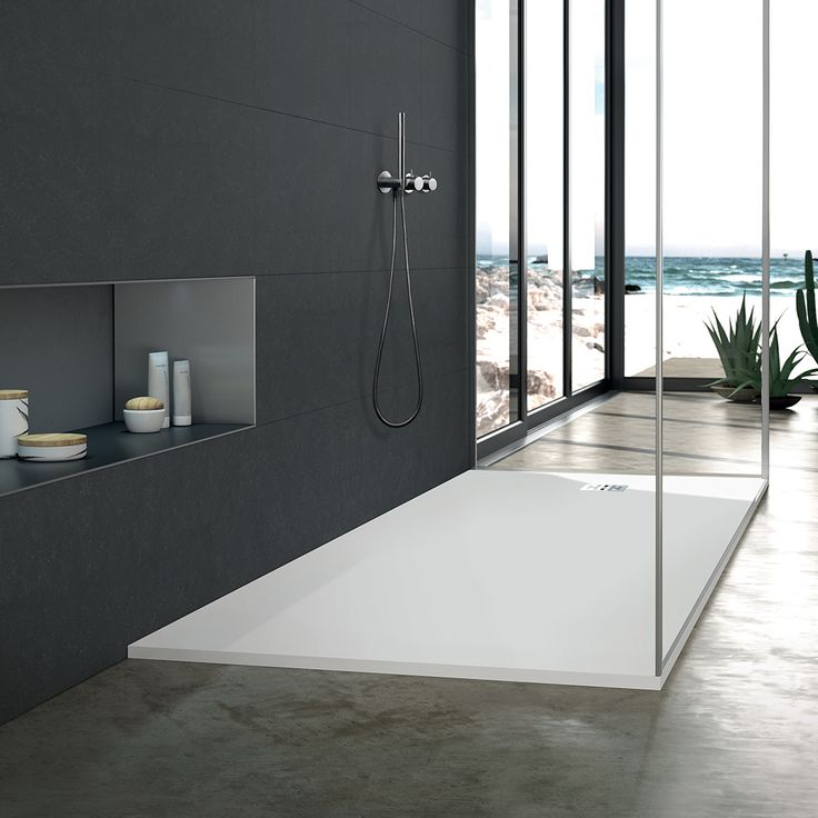 Tired of cleaning tile grout? Minimal one-piece blu•stone™ shower base design makes it easy to clean and offer that modern aesthetic you want! #clean #modern #bathroom #shower #showerbase #love #design #modernbathroom #modernhome #moderntapware #blu #blubathworks #blubath #decor #interior #interiordesign #instagood #potd #vancouver #yvr #minimal #minimalistic #lifestyle #furniture #beautiful