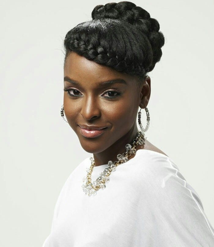 French Braid Styles For Black Hair: 1000+ Ideas About Goddess Braids Updo On Pinterest