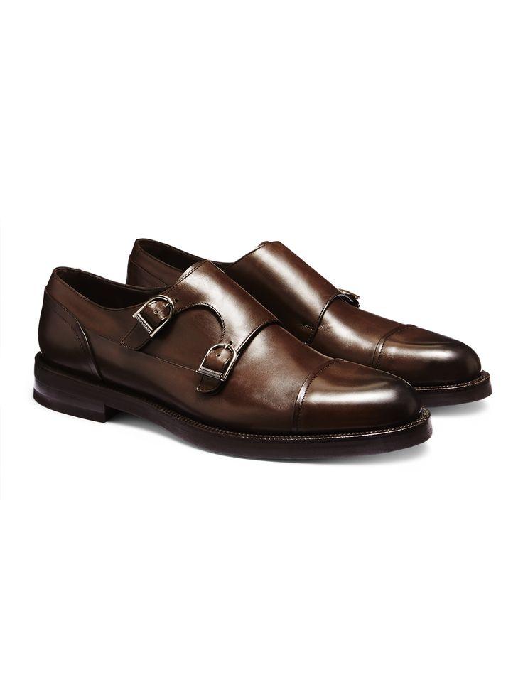 Мягкие двойные туфли-монки FW16 9896159 | Zegna