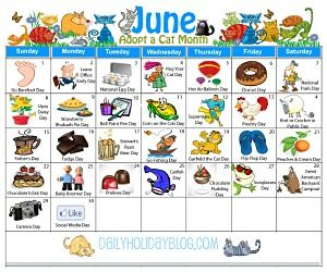 Download a free June Holiday calendar!!