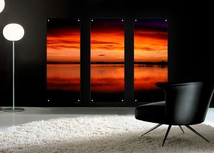 Ardsley Reservoir 4 Trp Acrylic  Ardsley Reservoir 4 tryptch perspex artwork printed to 8mm deep acrylic panels to create a stunning feature on any wall. This art can be placed in bathrooms or swimming pools and is fully waterproof.