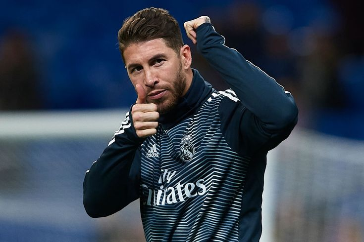 MADRID, SPAIN – JANUARY 24: Sergio Ramos of Real Madrid warms up prior to the Co…