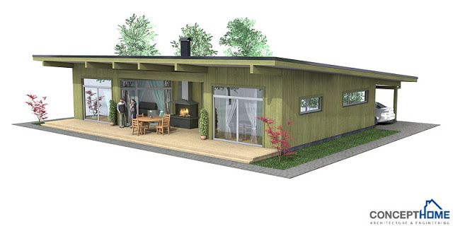 Affordable Modern House Plan Ch61 Affordable House Plans Small