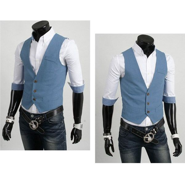 Fashion Single Breasted Suit Vest