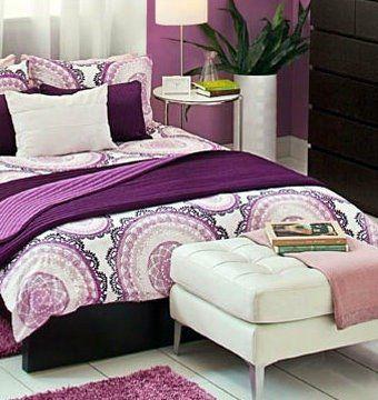 Lilac u0026 White Ikea Lyckoax Duvet Cover - Purple Bedroom Ideas ♥ #purple # duvet