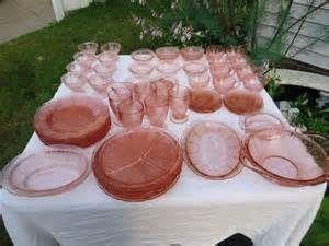 Cherry Blossom Pink Depression Glass