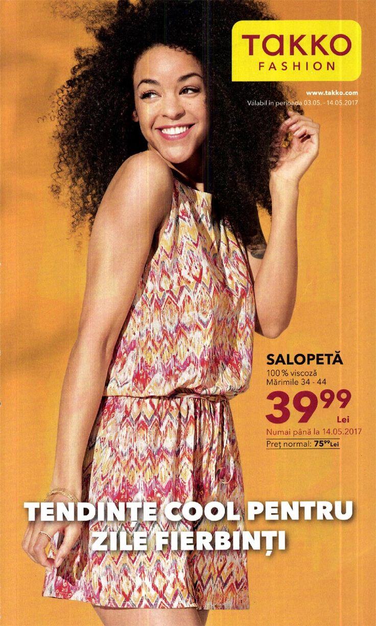 Catalog Takko Romania Oferte Mai 2017! Oferte si recomandari: saloepta dama 39,99 lei; tunica rosie/alba 39,99 lei; ochelari de soare 29,99 lei