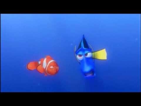 Buscando a Nemo - Lecciones de balleno. La música define la angustia y preocupación del padre por la perdida de su hijo.
