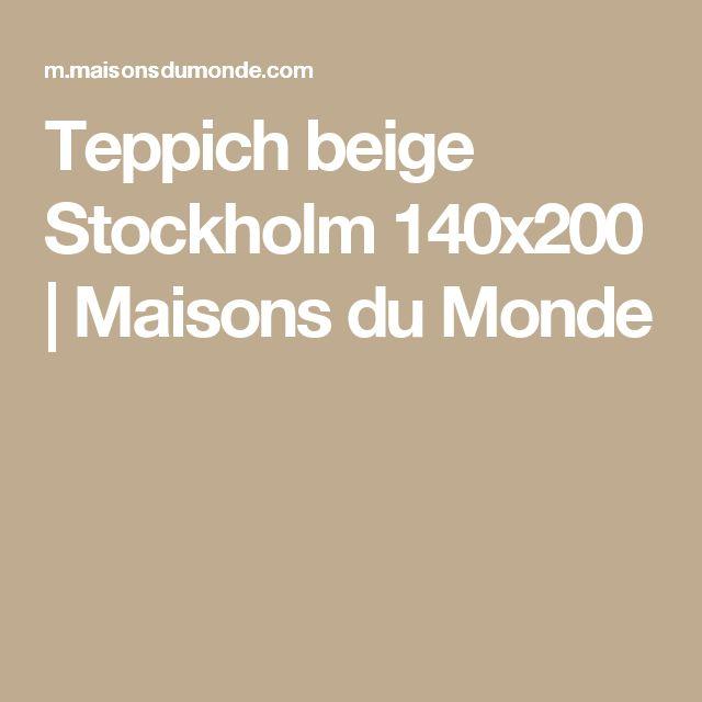 Teppich beige Stockholm 140x200 | Maisons du Monde