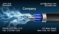 Let this design for electricians send a current to everyone you hand this business card to.