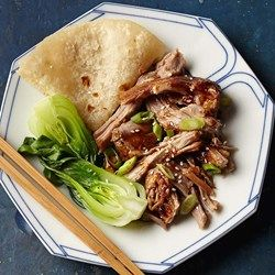 Slow-Cooker Char Siu Pork - EatingWell.com  substitute tamari for soy sauce to make GF