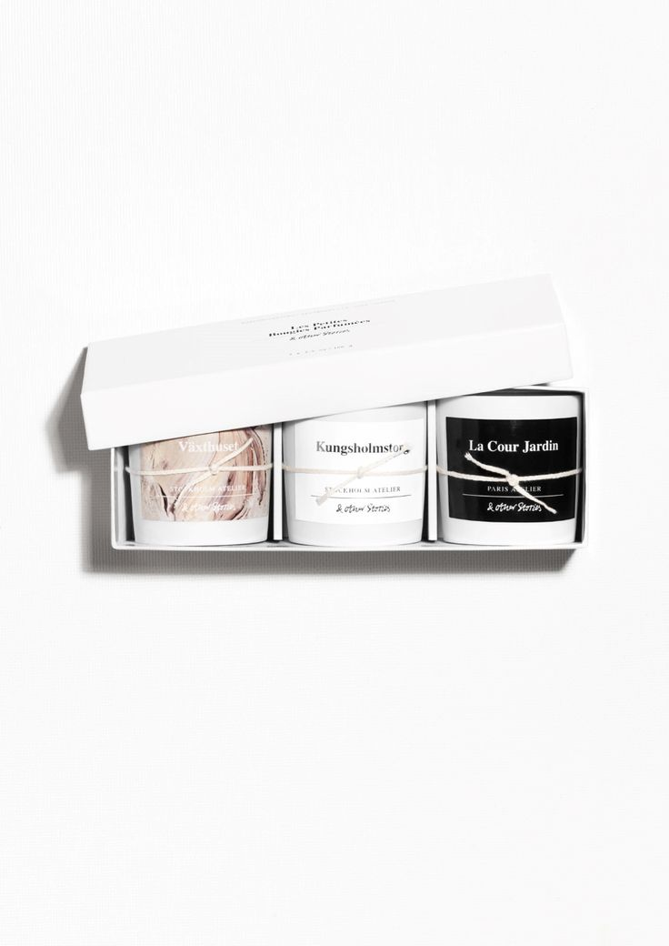 & Other Stories image 1 of Fragrance Candles Set Of 3 in Set of 3