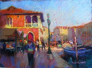 Maxwell Wilks, Early Morning Market, Venice.  Rich!