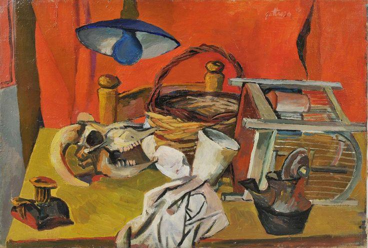 86. Natura morta con lampada - 1940