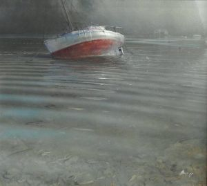 David Barker, 'Boat' Oil on canvas, 830 x 910 mm, POA at the Remuera Gallery