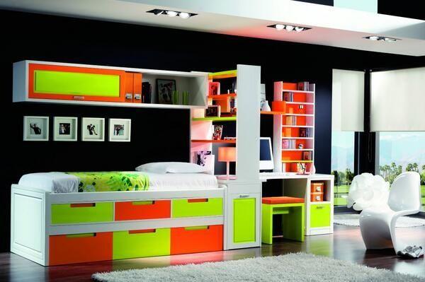 Dormitorio juvenil. Youth Bedroom  http://www.decorhaus.es/    #muebles #furniture  #Málaga