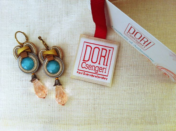 """My new Muse earrings arrived. Can't wait to wear them!!!"" #DoriCsengeri #turquoise #dropearrings"