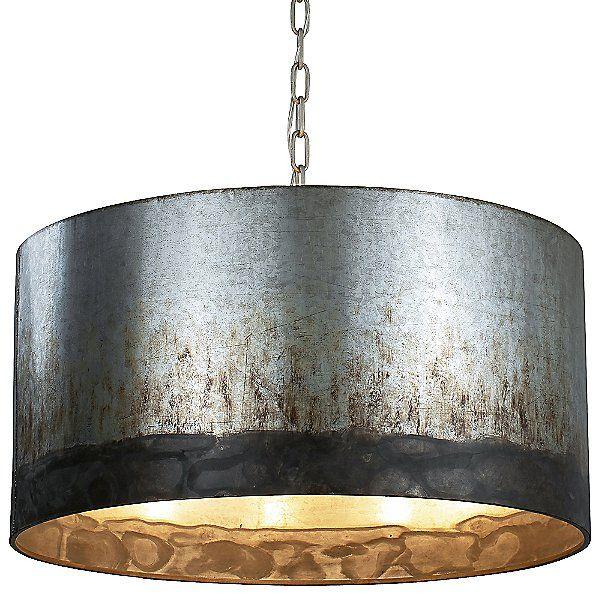 Bronze Metal Drum Light Pendant Hammered Metal Pendant Light Glass Pendant Light Metal Drum Light Modern Pendant Light