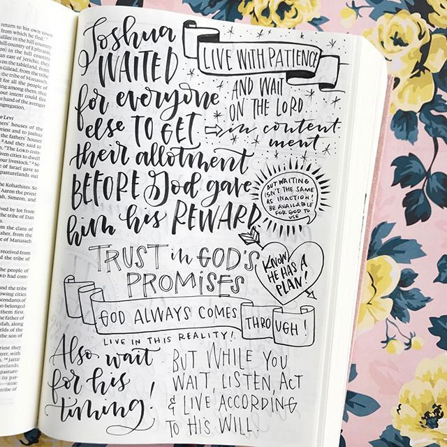 Today @stefankunz did a Instastory all about trusting in God's promises and that's something I've noticed seems to come through in most of the Bible lettering pages that I do. Holding tight and claiming those promises!