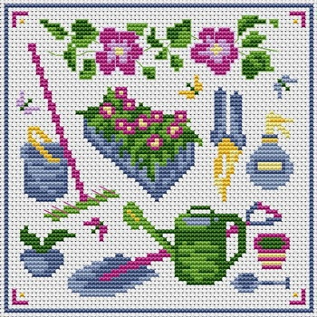 Green thumb - hama beads spring project - chart by Cross Stitchers Club