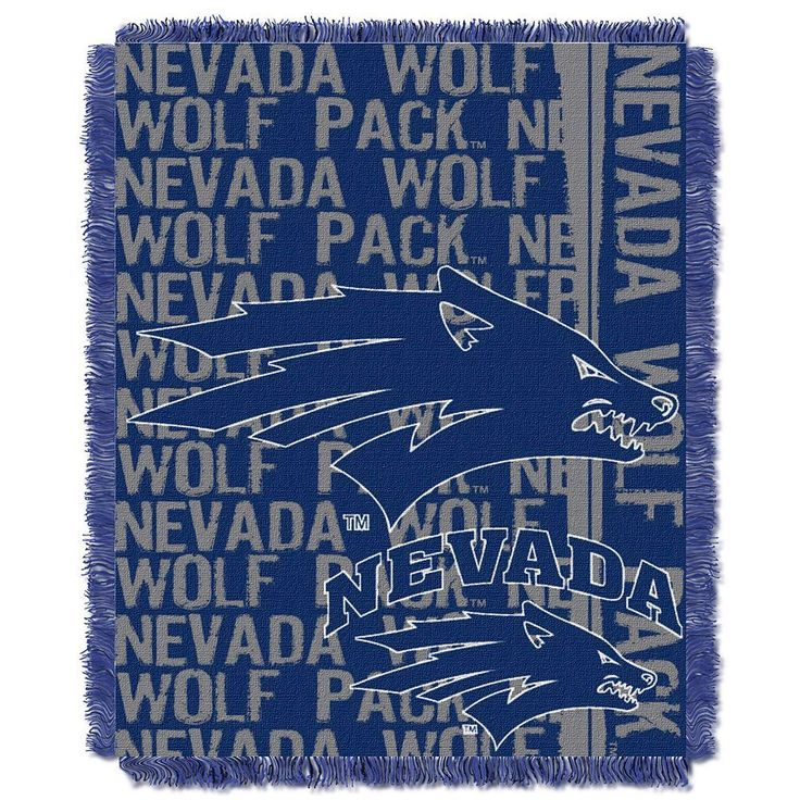 Nevada Wolf Pack Jacquard Throw Blanket by Northwest, Multicolor