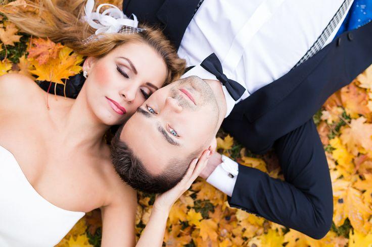 zdjęcia ślubne szczecin kasia i tomek jesienne zdjęcia ślubne