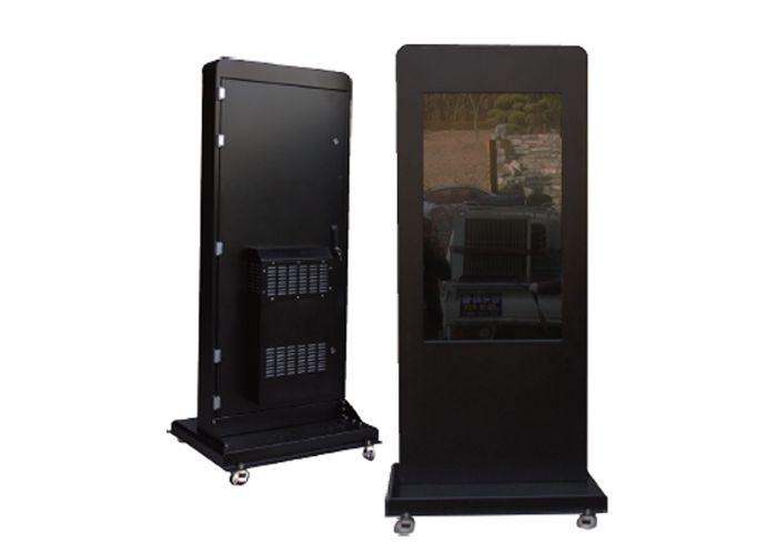 Outdoor Business Solutions.    High bright LCD for Outdoor application.  Durable for use in high heat and extreme cold environments.  Protected from dust, rain, humidity and vandalism.
