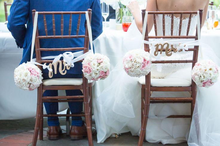 Graydon Hall Manor bride and groom at dinner