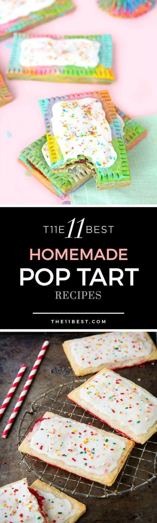 Homemade pop tart recipes. How to make pop tarts.