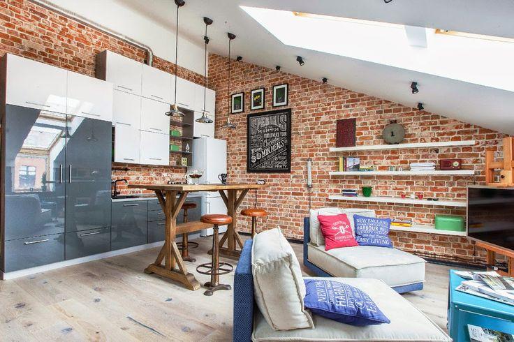 Дизайн однокомнатной квартиры: Уютный лофт 40 кв.м.